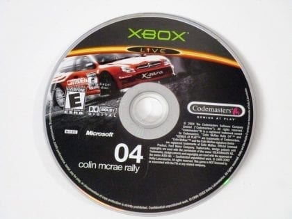 Colin McRae Rally 04 game for Microsoft Xbox - Loose