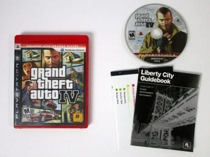 Grand Theft Auto IV game for Sony Playstation 3 PS3 -Complete