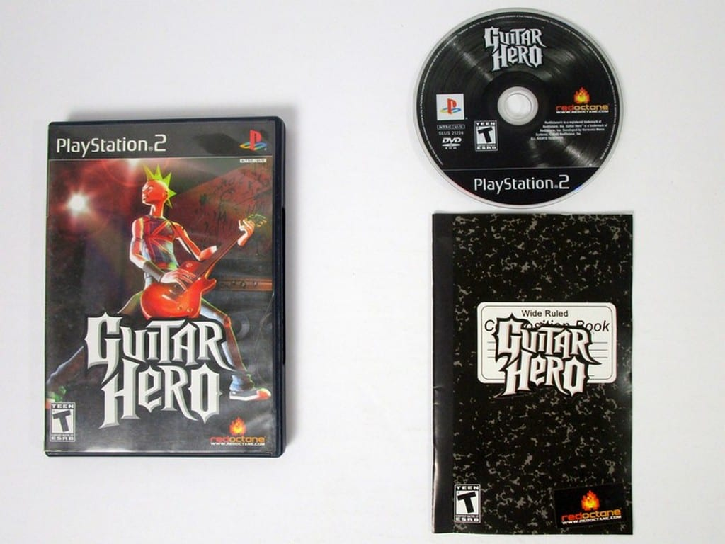 Guitar Hero game for Sony Playstation 2 PS2 -Complete