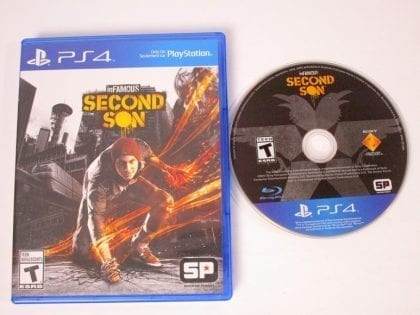 Infamous Second Son game for Sony Playstation 4 PS4 -Game & Case