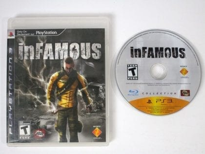 Infamous game for Sony Playstation 3 PS3 -Game & Case