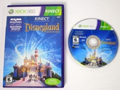 Kinect Disneyland game for Microsoft Xbox 360 -Game & Case