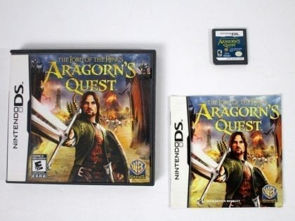 Lord of the Rings: Aragorn's Quest game for Nintendo DS -Complete