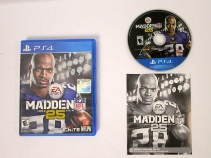Madden NFL 25 game for Sony Playstation 4 PS4 -Complete