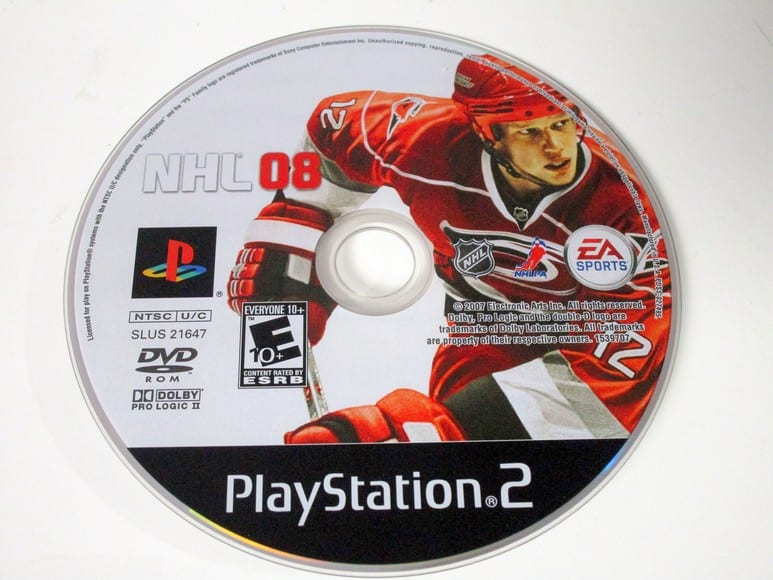 NHL 08 game for Sony Playstation 2 PS2 - Loose