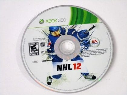 NHL 12 game for Microsoft Xbox 360 - Loose