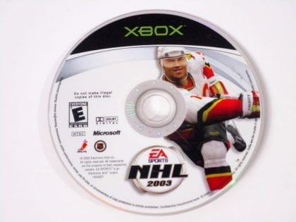 NHL 2003 game for Microsoft Xbox - Loose