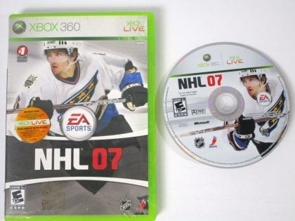 NHL 2007 game for Microsoft Xbox 360 -Game & Case