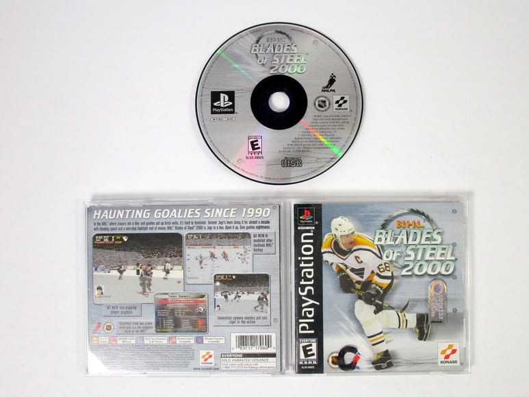 NHL Blades of Steel 2000 game for Sony Playstation PS1 PSX -Complete