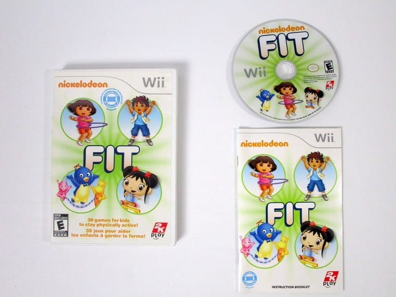 Nickelodeon Fit game for Nintendo Wii -Complete
