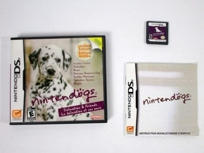 Nintendogs Dalmatian and Friends game for Nintendo DS -Complete