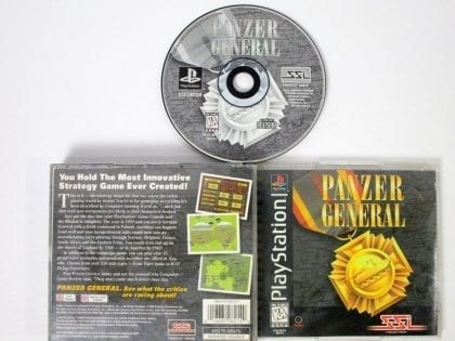 Panzer General game for Sony Playstation PS1 PSX -Complete