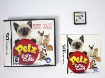 Petz Catz Clan game for Nintendo DS -Complete