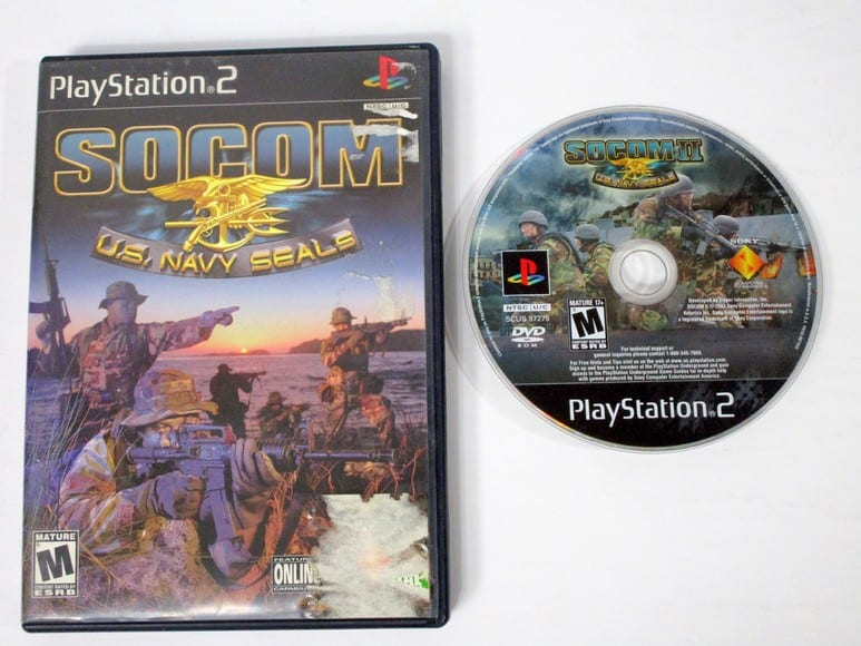 SOCOM US Navy Seals game for Sony Playstation 2 PS2 -Game & Case