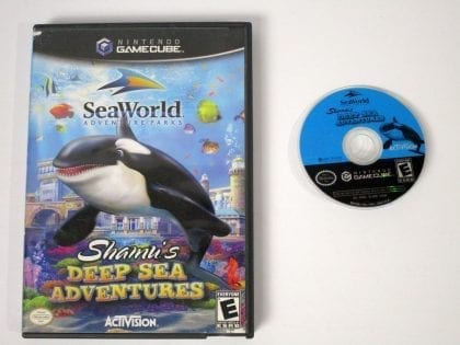 Shamu's Deep Sea Adventure game for Nintendo Gamecube -Game & Case