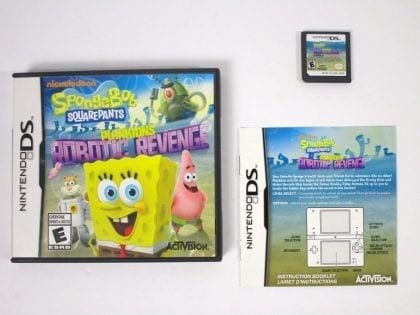 SpongeBob SquarePants: Plankton's Robotic Revenge game for Nintendo DS Complete