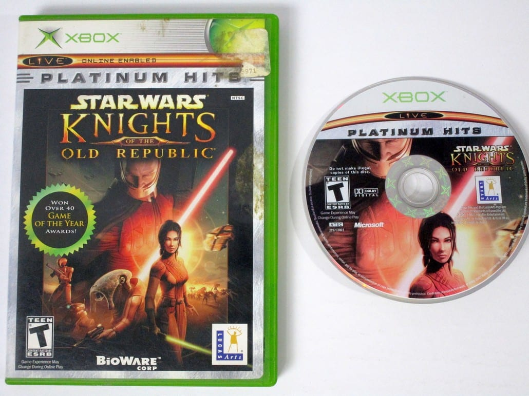 Star Wars Knights of Old Republic game for Microsoft Xbox -Game & Case