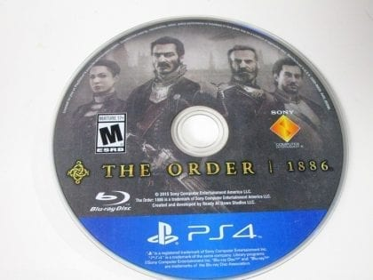 The Order: 1886 game for Sony Playstation 4 PS4 - Loose