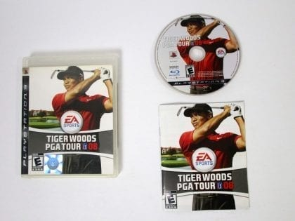Tiger Woods PGA Tour 08 game for Sony Playstation 3 PS3 -Complete
