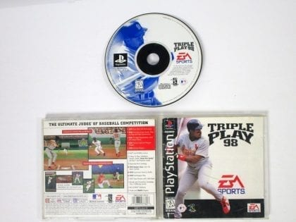Triple Play 98 game for Sony Playstation PS1 PSX -Complete