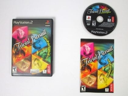 Trivial Pursuit Unhinged game for Sony Playstation 2 PS2 -Complete