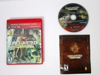 Uncharted Drake's Fortune game for Sony Playstation 3 PS3 -Complete