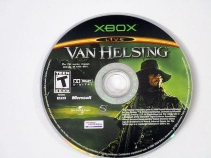 Van Helsing game for Microsoft Xbox - Loose