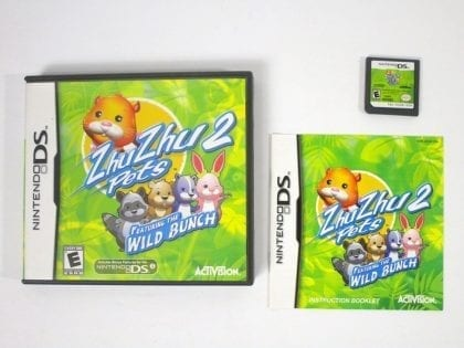 Zhu Zhu Pets 2: Featuring The Wild Bunch game for Nintendo DS -Complete