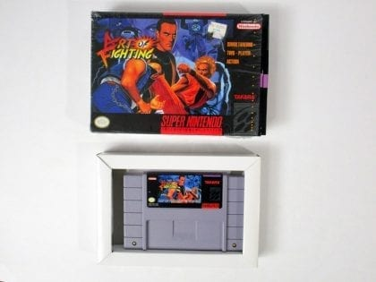 Art of Fighting game for Super Nintendo SNES -Game & Case