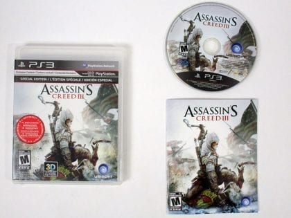 Assassin's Creed III game for Sony Playstation 3 PS3 -Complete