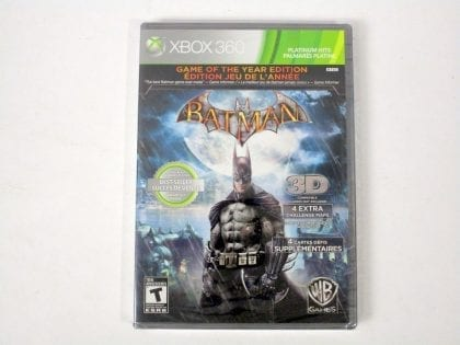 Batman Arkham Asylum Game of the Year Edition game for Xbox 360 - New