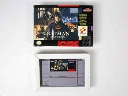 Batman Returns game for Super Nintendo SNES -Game & Case