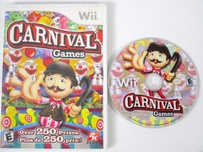 Carnival Games game for Nintendo Wii -Game & Case