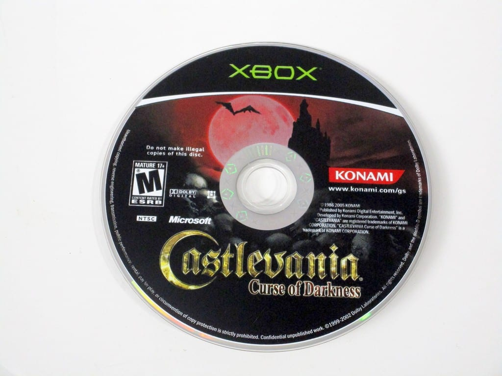 Castlevania Curse of Darkness game for Microsoft Xbox - Loose
