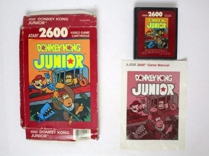 Donkey Kong Jr game for Atari 2600 -Complete