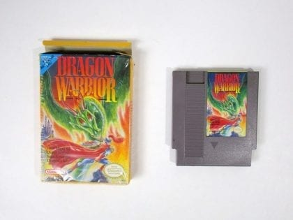 Dragon Warrior game for Nintendo NES -Game & Case