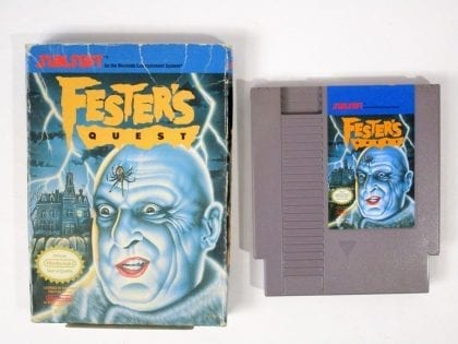 Fester's Quest game for Nintendo NES -Game & Case