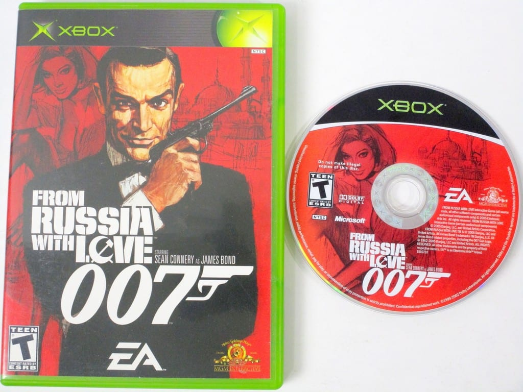 From Russia With Love game for Microsoft Xbox -Game & Case