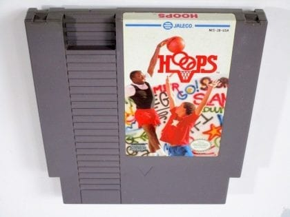 Hoops game for Nintendo NES - Loose