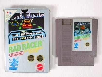 Rad Racer game for Nintendo NES -Game & Case