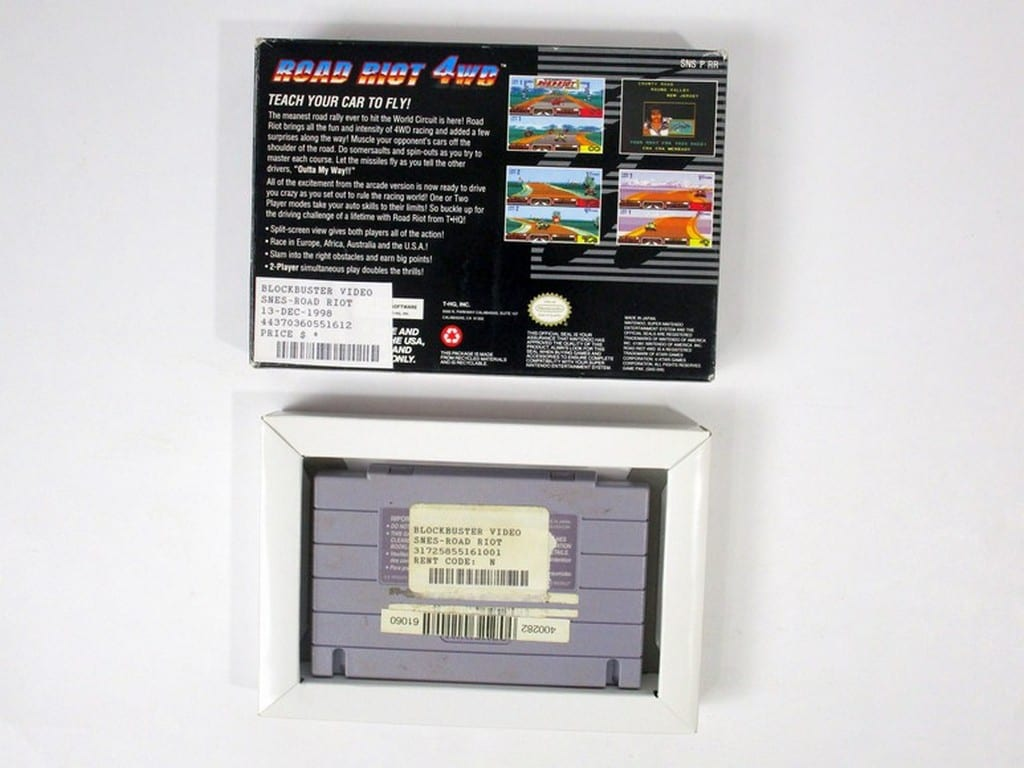 Road Riot 4WD game for Super Nintendo   The Game Guy