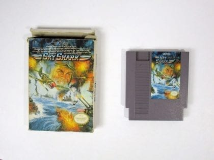 Sky Shark game for Nintendo NES -Game & Case