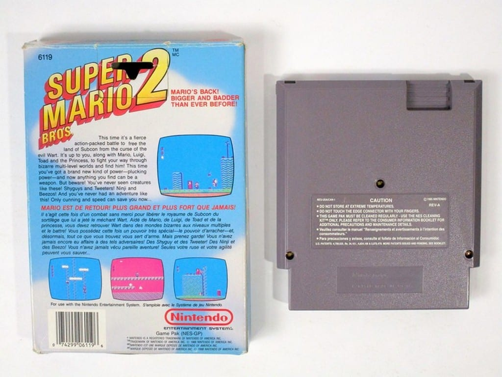 Super Mario Bros 2 game for NES | The Game Guy