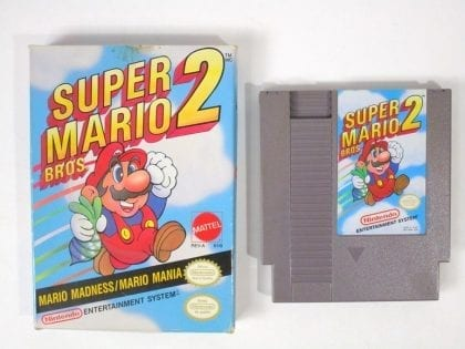 Super Mario Bros 2 game for Nintendo NES -Game & Case