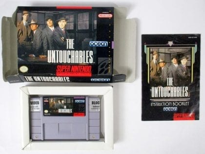 The Untouchables game for Super Nintendo SNES -Complete