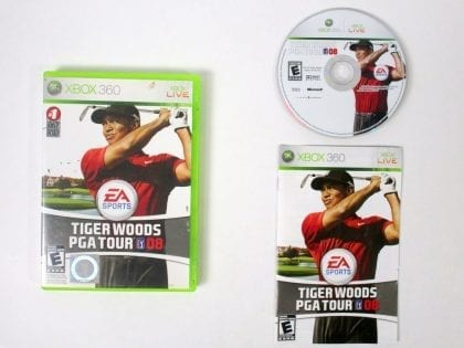 Tiger Woods PGA Tour 08 game for Microsoft Xbox 360 -Complete
