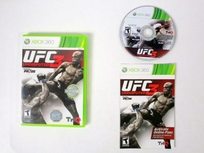 UFC Undisputed 3 game for Microsoft Xbox 360 -Complete