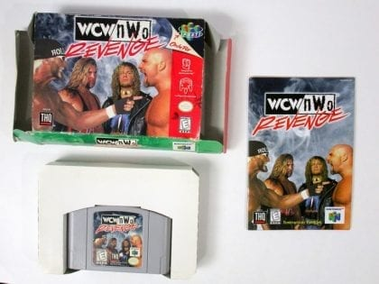 WCW Revenge game for Nintendo 64 N64 -Complete