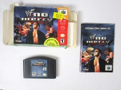 WWF No Mercy game for Nintendo 64 N64 -Complete