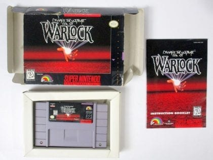 Warlock game for Super Nintendo SNES -Complete